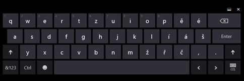 Dotyková klávesnice