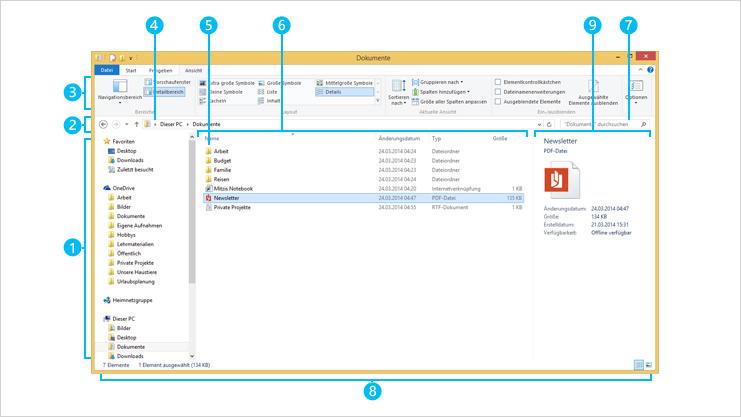 Das Datei-Explorer-Fenster