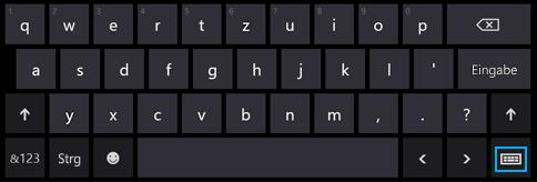 Schaltfläche für die Bildschirmtastatur