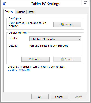 Windows 8 - Tablet PC Settings