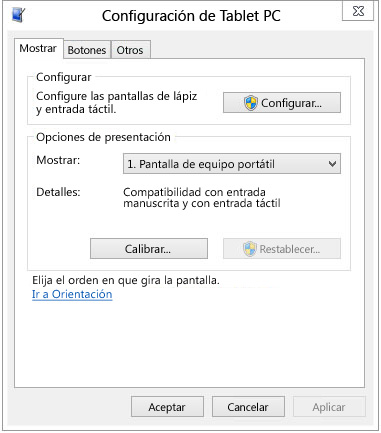 Configuracin de tableta