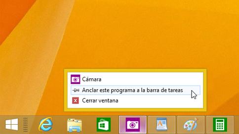 Anclar una aplicación a la barra de tareas