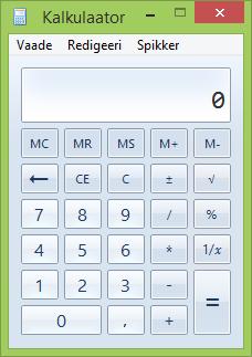 Kalkulaatori aken