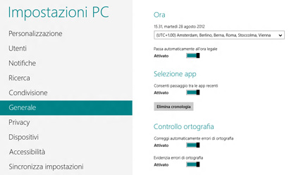 Impostazioni PC