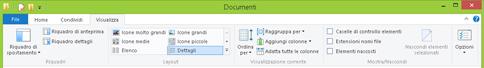 Scheda Visualizza nella barra multifunzione