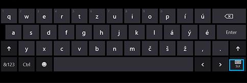 Tlačidlo dotykovej klávesnice