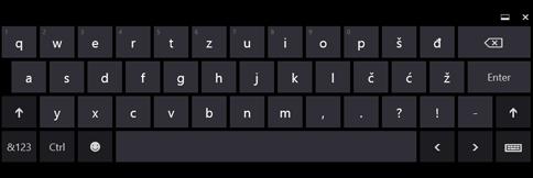 Tastatura na ekranu osetljivom na dodir