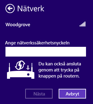 Skrmen fr Anslut nu (i Windows)