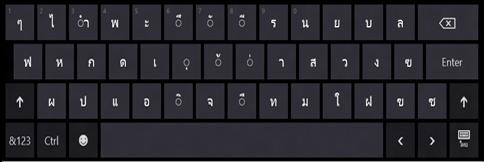 แป้นพิมพ์สัมผัส