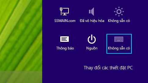 Nút cài đặt hiển thị chữ viết tắt cho phương thức nhập được chọn
