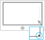 有关使用鼠标打开超级按钮的图示