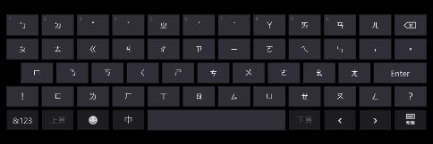 觸控式鍵盤
